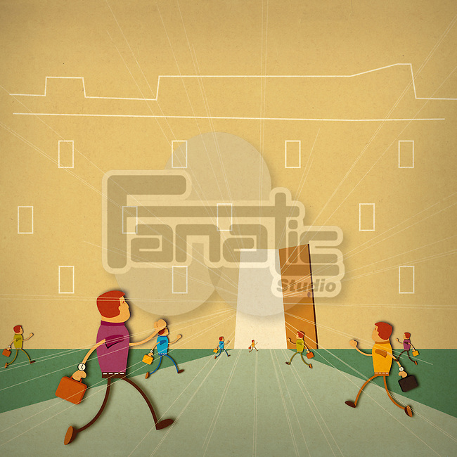 Business executives running