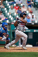 Pawtucket Red Sox Josh Ockimey (30) at bat during an International League game against the Buffalo Bisons on August 25, 2019 at Sahlen Field in Buffalo, New York.  Buffalo defeated Pawtucket 5-4 in 11 innings.  (Mike Janes/Four Seam Images)