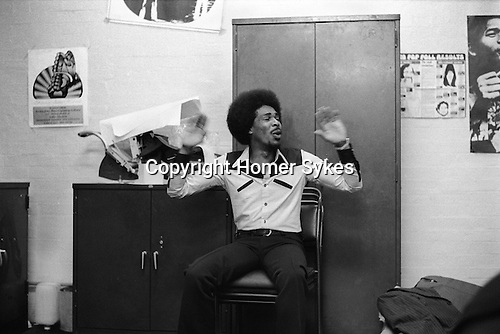 Bob and Marcia. Young Gifted and Black, their first British tour 1970s UK. Boston Lincolnshire. They appeared at the Boston Gliderdrome. <br /> Bob Andy