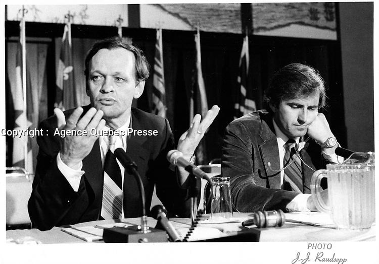 Jean Chretien, Juillet 1980<br /> (date exacte inconnue)<br /> PHOTO :  Agence Quebec presse