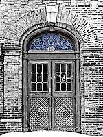 Pabst Brewery Beer Garden Doors