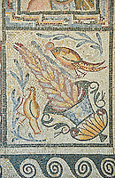 Roman mosaic floor panes depicting the  seasons. From Capannelle area of the Via Appia Nova, Rome. 4th to 5th century AD. National Roman Museum, Rome, Italy