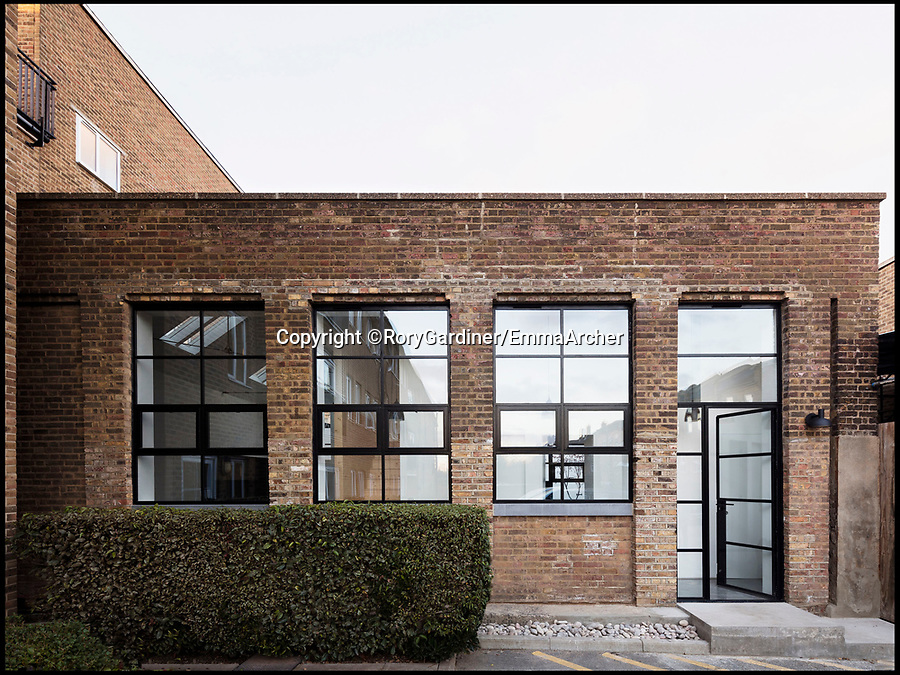 BNPS.co.uk (01202 558833)Pic: RoryGardiner/EmmaArcher/BNPS<br /> <br /> After...<br /> <br /> Council Depot transformed into a million pound minimalist masterpiece.<br /> <br /> An architect has transformed a former council depot in Hackney into a stunning £1.35million property.<br /> <br /> James Davies, 34, has spent two years transforming the historic, dilapidated former school building in Stoke Newington, north east London, into a modern, stylish two-storey, two-bedroom house, living on site during the conversion. <br /> <br /> The renovation of the site at Defoe Road, which is yards from the high street, cost a hefty £350,000.<br /> <br /> But the investment has paid off handsomely as the property, which has its own inner courtyard, has already been snapped up for £1.35m.