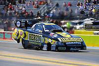 Sept. 23, 2011; Ennis, TX, USA: NHRA funny car driver Tony Pedregon during qualifying for the Fall Nationals at the Texas Motorplex. Mandatory Credit: Mark J. Rebilas-