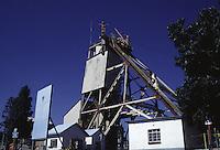 SUDAFRICA - Kimberley, miniera di diamanti di Bultfontein ( Miniere De Beers): capannoni nella miniera.