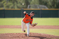 San Francisco Giants relief pitcher Logan Webb (50) follows through on his delivery during an Instructional League game against the Kansas City Royals at the Giants Training Complex on October 17, 2017 in Scottsdale, Arizona. (Zachary Lucy/Four Seam Images)