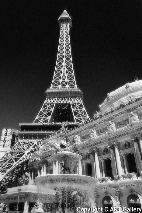 Vegas Architecture - Eiffel Tower at the Paris Casino/Hotel, Las Vegas, Nevada. Photographed by Alan Mahood.