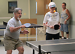 Wayne Lenhares and Shirley Ling play ping pong at the Carson City Senior Citizen Center in Carson City, Nev., on Wednesday, Aug. 22, 2012..Photo by Cathleen Allison