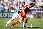 CD Leganes' David Timor (l) and Sevilla FC's Franco Vazquez during La Liga match. October 15,2016. (ALTERPHOTOS/Acero)