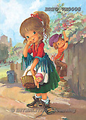Alfredo, CHILDREN, paintings, BRTOVE0008,#K# Kinder, niños, nostalgisch, nostálgico, illustrations, pinturas
