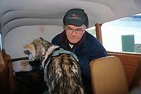 Pilot & Dropped Dog in Small Plane Takotna 2000 Iditarod AK Jim Kintz