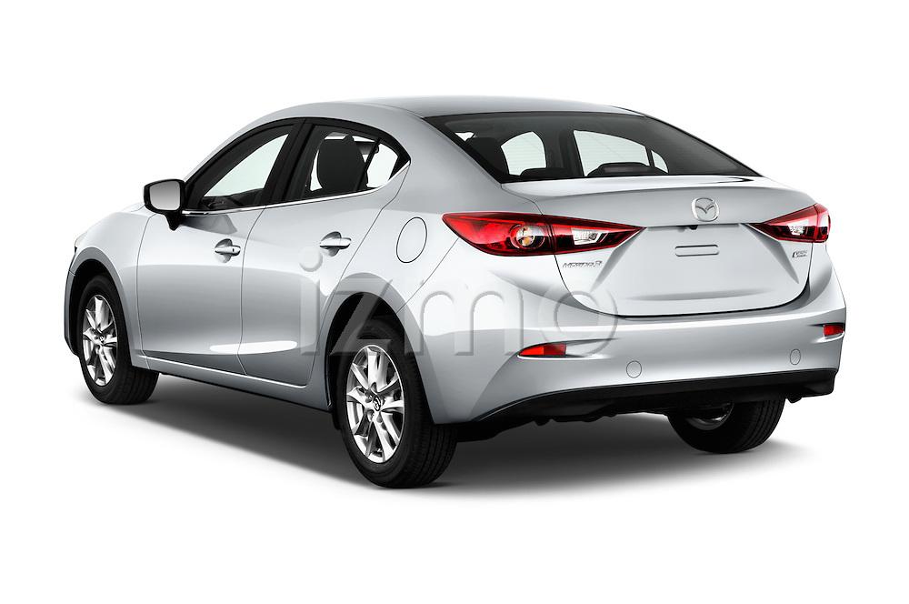 Car pictures of rear three quarter view of 2018 Mazda Mazda3 Sport 4 Door Sedan Angular Rear