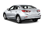 Car pictures of rear three quarter view of 2018 Mazda Mazda3 Sport 4 Door Sedan Angular Rear