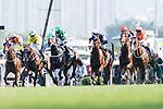 Silvestre de Sousa (3rd L-R) riding Pakistan Star during the Audemars Piguet Queen Elizabeth II Cup at Sha Tin Racecourse on April 30, 2017 in Hong Kong, China. (Photo by Marcio Rodrigo Machado / Power Sport Images)
