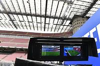 Screens of a Tv remote camera are seen during the Serie A football match between FC Internazionale and Cagliari Calcio at San Siro stadium in Milano (Italy), April 11th, 2021. Photo Andrea Staccioli / Insidefoto