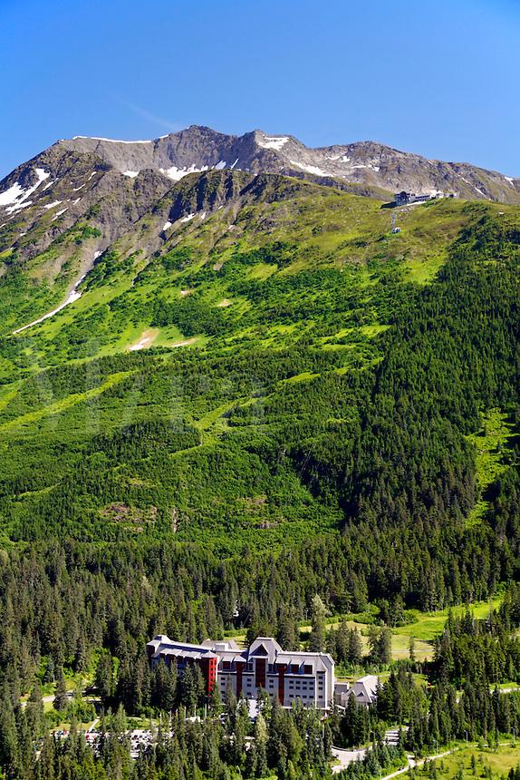 Aerial Alyeska Resort, Chugach National Forest, Alaska.