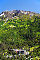 Aerial Alyeska Resort, Chugach National Forest, Alaska.