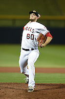 Mesa Solar Sox pitcher Mark Sappington (60) during an Arizona Fall League game against the Peoria Javelinas on October 16, 2014 at Cubs Park in Mesa, Arizona.  Mesa defeated Peoria 6-2.  (Mike Janes/Four Seam Images)