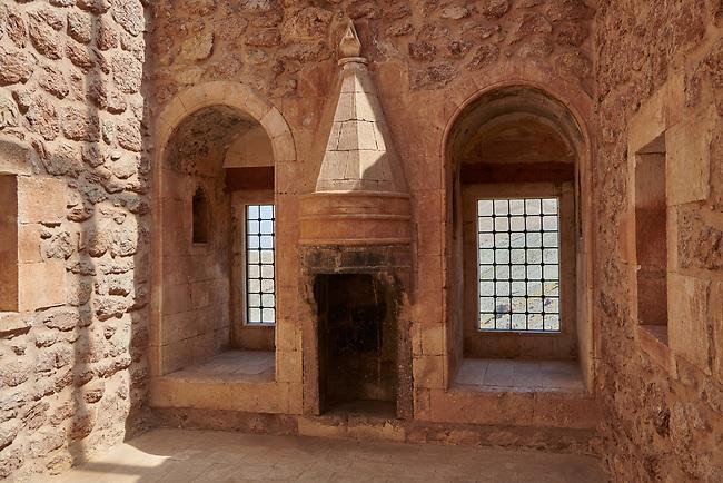 Bedroom interior  of  the 18th Century Ottoman Hareem of the Ishak Pasha Palace (Turkish: İshak Paşa Sarayı) ,  Agrı province of eastern Turkey.