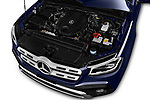 Car stock 2018 Mercedes Benz X Class Power 4 Door Pick Up engine high angle detail view