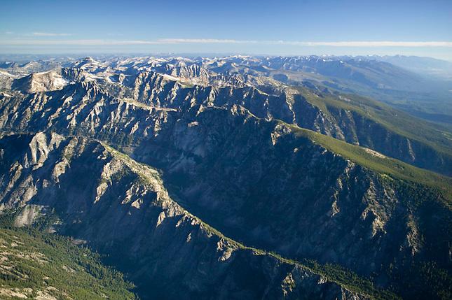 Bitterroot Mountains on Montana Idaho border