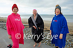 Ready to swim in Banna on Sunday, l to r: Veronica O'Brien, Sally Ryle and Audrey O'Carroll
