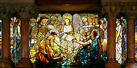 Tiffany window at Linsey-Chittenden hall, Yale University, New Haven, CT