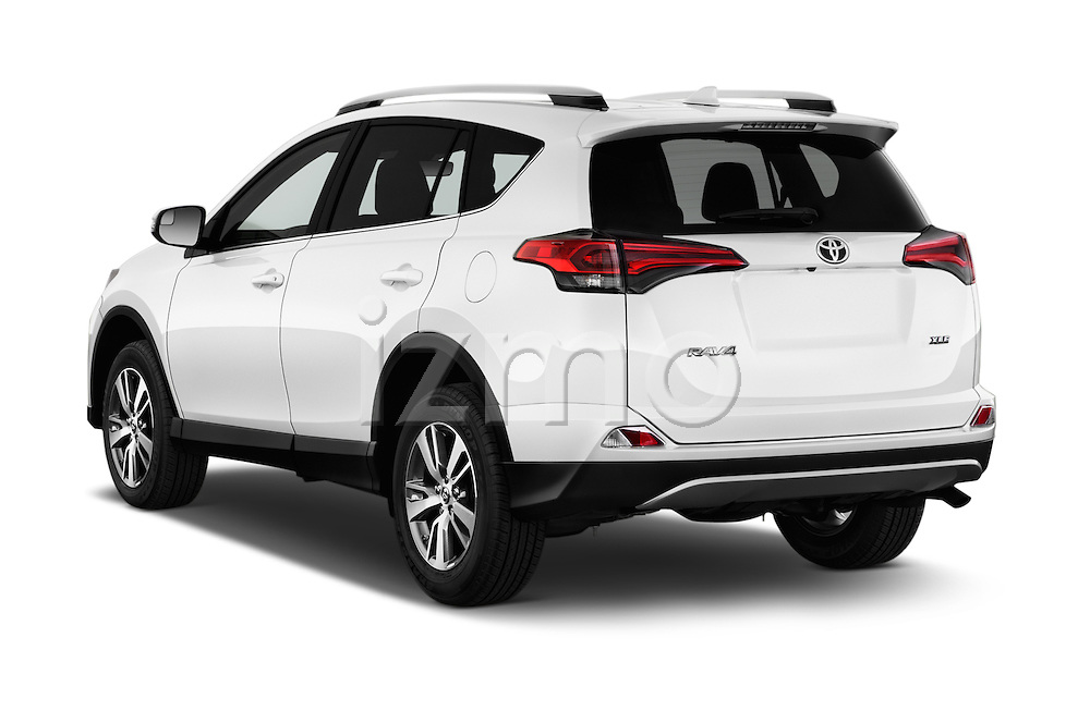 Car pictures of rear three quarter view of 2018 Toyota RAV4 XLE 5 Door SUV Angular Rear
