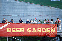Fans enjoying the game from the beer garden between the Montgomery Biscuits and the Chattanooga Lookouts on May 25, 2018 at AT&T Field in Chattanooga, Tennessee. (Andy Mitchell/Four Seam Images)