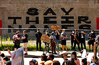 Peaceful George Floyd protests take place in the East Liberty neighborhood on Monday June 1, 2020 in Pittsburgh, Pennsylvania. (Photo by Jared Wickerham/Pittsburgh City Paper)