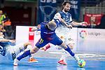 Barcelona Lassa Carlos Vagner and R. Renov. Zaragoza Fernando Modrego during Futsal Spanish Cup 2018 at Wizink Center in Madrid , Spain. March 16, 2018. (ALTERPHOTOS/Borja B.Hojas)