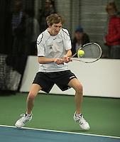 Rotterdam, Netherlands, Januari 28, 2017, ABNAMROWTT, Supermatch, Erik Bakker/Tom Uyl<br /> Photo: Tennisimages/Henk Koster