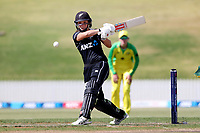 4th April 2021; Bay Oval, Taurange, New Zealand;  White Ferns Amelia Kerr plays a shot to the on side during the 1st women's ODI White Ferns versus Australia cricket match at Bay Oval in Tauranga.