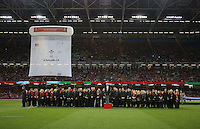 Pictured: A traditional welsh band and choir before the Wales v Italy game at the Millennium, Stadium, Wales, UK. Rugby World Cup, 05 September 2015