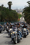 Barcelona Harley Days 2014-Flag Parade.