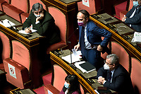 The senator Riccardo Nencini during the Italian Premier's  information at the Senate about the government crisis..<br /> Rome(Italy), January 19th 2021<br /> Photo Pool Alessandra Benedetti/Insidefoto