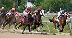 The field turns for home in the Maryland Sprint Stakes