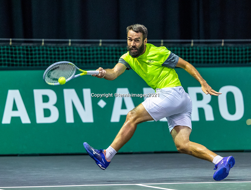 Rotterdam, The Netherlands, 27 Februari 2021, ABNAMRO World Tennis Tournament, Ahoy, Qualyfying match: Vaclav Safranek (CZE)<br /> Photo: www.tennisimages.com/henkkoster