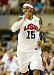 USA's Carmelo Anthony during friendly match.July 24,2012. (ALTERPHOTOS/Acero)