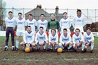 Barking Football Club team group prior to the Essex Senior Cup Final replay against Southend United, played at Dagenham FC - 18/04/90 - MANDATORY CREDIT: Gavin Ellis/TGSPHOTO - Self billing applies where appropriate - Tel: 0845 094 6026