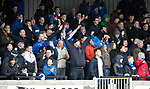 Ayr United v St Johnstone…..08.02.20   Somerset Park   Scottish Cup 5th Round<br />A good travelling St Johnstone support enjoying the game<br />Picture by Graeme Hart.<br />Copyright Perthshire Picture Agency<br />Tel: 01738 623350  Mobile: 07990 594431