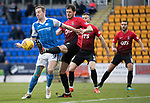 St Johnstone v Kilmarnock…02.12.17…  McDiarmid Park…  SPFL<br />Steven MacLean and Gordon Greer<br />Picture by Graeme Hart. <br />Copyright Perthshire Picture Agency<br />Tel: 01738 623350  Mobile: 07990 594431