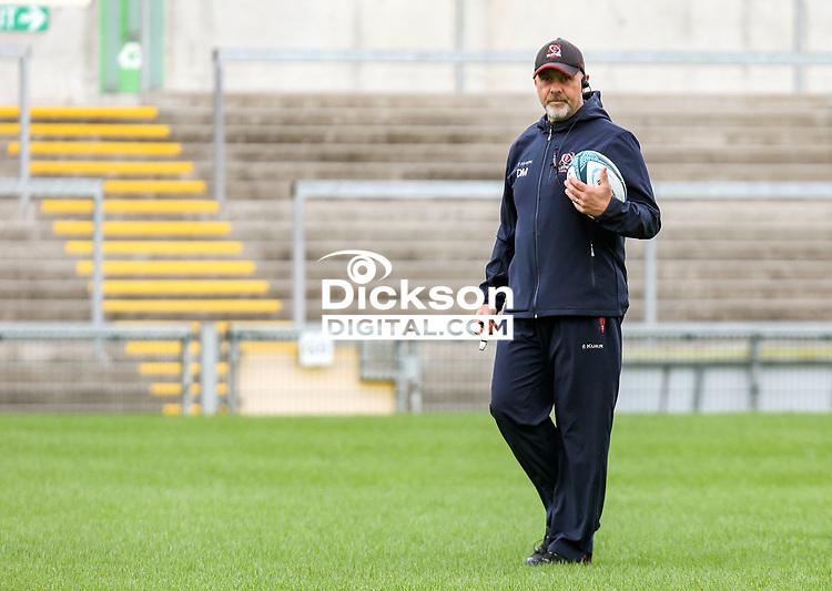 Tuesday 28th September 2021<br /> <br /> Dan McFarland during Ulster Rugby training at Kingspan Stadium, Ravenhill Park, Belfast, Northern Ireland. Photo by John Dickson/Dicksondigital