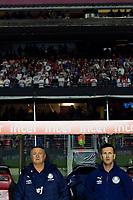 SÃO PAULO, SP, 13.07.2019: SÃO PAULO - PALMEIRAS - Luiz Felipe Scolari (técnico) do Palmeiras. Partida entre São Paulo e Palmeiras pelo Campeonato Brasileiro da Série A na noite deste sábado (13) no estádio Cicero Pompeu de Toledo em São Paulo. (Foto: Maycon Soldan/Código19)