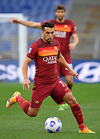 Football, Serie A: AS Roma - Bologna, Olympic stadium, Rome, April 11, 2021. <br /> Roma's Pedro Rodriguez in action during the Italian Serie A football match between AS Roma and Bologna at Rome's Olympic stadium, Rome, on April 11, 2021.  <br /> UPDATE IMAGES PRESS/Isabella Bonotto