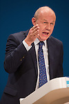 © Joel Goodman - 07973 332324 . 04/10/2016 . Birmingham , UK . DAMIAN GREEN speaks on Work and Pensions during the third day of the Conservative Party Conference at the International Convention Centre in Birmingham . Photo credit : Joel Goodman