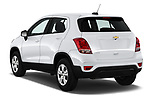 Car pictures of rear three quarter view of a 2020 Chevrolet Trax LS 5 Door SUV angular rear