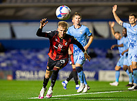 2nd October 2020; St Andrews Stadium, Coventry, West Midlands, England; English Football League Championship Football, Coventry City v AFC Bournemouth; Sam Surridge of AFC Bournemouth looks at the ball as it gets away from him
