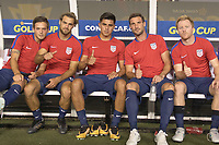 Tampa, FL - July 12, 2017: Kelyn Rowe and Graham Zusi and Joe Corona and  Chris Pontius and Dax McCarty The USMNT (USA) defeated Martinique (MAR) 3-2 in a 2017 Gold Cup group stage match at Raymond James Stadium.