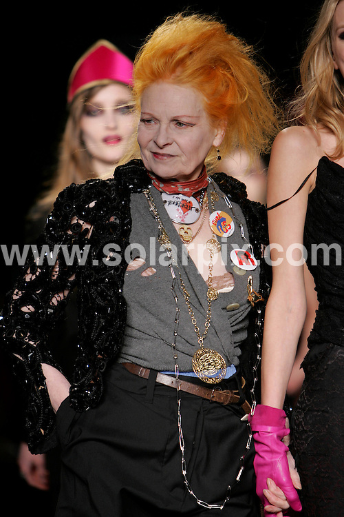 **ALL ROUND PICTURES FROM SOLARPIX.COM**.**NO UK NEWSPAPER PUBLICATION **UK MAGAZINE PUBLICATION ONLY** AND NO PUBLICATION IN FRANCE, SCANDINAVIA, AUSTRALIA AND GERMANY** .Models at The Vivienne Westwood Red Label catwalk show at London Fashion week..JOB REF: 5790        SFE       DATE: 15.02.08.**MUST CREDIT SOLARPIX.COM OR DOUBLE FEE WILL BE CHARGED* *UNDER NO CIRCUMSTANCES IS THIS IMAGE TO BE REPRODUCED FOR ANY ONLINE EDITION WITHOUT PRIOR PERMISSION*